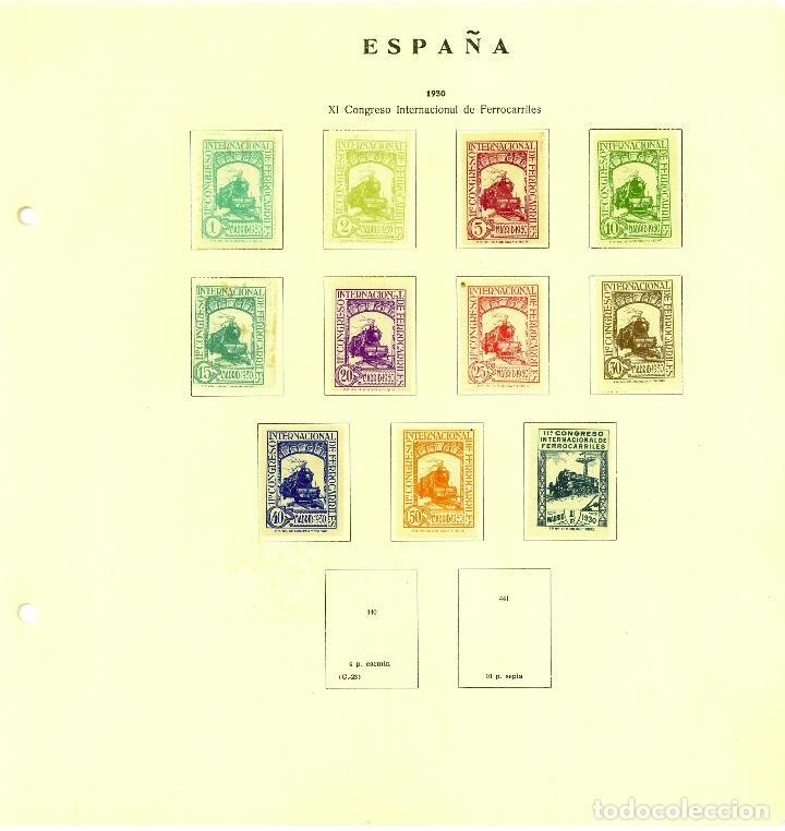 HOJA CON SELLOS ESPAÑA (Sellos - España - Alfonso XIII de 1.886 a 1.931 - Usados)