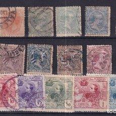 Selos: SELLOS ESPAÑA OFERTA FICHA LLENA DE SELLOS USADO AÑO 1899/1907. Lote 286446738