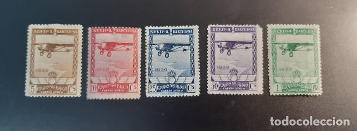 ESPAÑA 1930. EDIFIL 483/487*. NUEVOS CON SEÑAL DE FIJASELLOS (Sellos - España - Alfonso XIII de 1.886 a 1.931 - Nuevos)