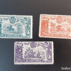 Francobolli: ESPAÑA 1905. EDIFIL 257/259*. NUEVOS CON SEÑAL DE FIJASELLOS. Lote 286855278