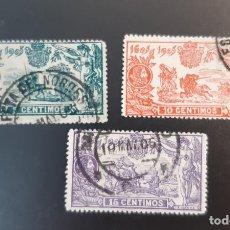 Sellos: ESPAÑA 1905. EDIFIL 257/259. USADOS. Lote 286855728