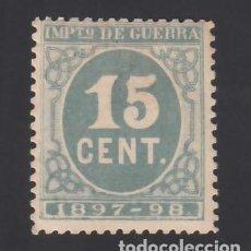 Sellos: ESPAÑA, 1897 EDIFIL Nº 234 /**/, 15 C. VERDE. Lote 286878818