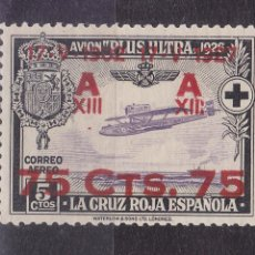 Timbres: BB6- ALFONSO XIII CRUZ ROJA AÉREO EDIFIL 388 * CON LIGERA SEÑAL DE FIJASELLOS. .. Lote 286916948