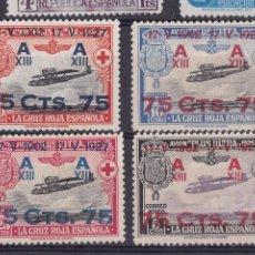 Timbres: BB13- CRUZ ROJA ALFONSO XIII AEREOAS EDIFIL 388/91 (*) SIN GOMA.. Lote 287049333