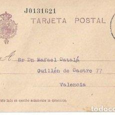 Sellos: TARJETA POSTAL. ALFONSO XIII 15C. VAQUER OVIEDO 1927. Lote 287200818