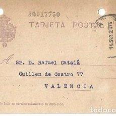 Sellos: TARJETA POSTAL. ALFONSO XIII 15C. VAQUER. VITORIA. SET1927. Lote 287201343