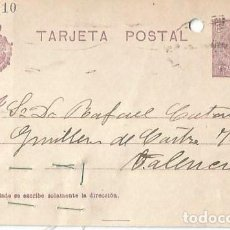 Sellos: TARJETA POSTAL. ALFONSO XIII 15C. MEDALLÓN 1923. Lote 287204623