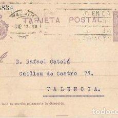 Sellos: TARJETA POSTAL. ALFONSO XIII 15C. MEDALLÓN. MADRID 1922. Lote 287205308