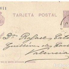 Sellos: TARJETA POSTAL. ALFONSO XIII 15C. MEDALLÓN. BARCELONA 1922. Lote 287205463