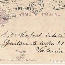 Sellos: TARJETA POSTAL ALFONSO XIII. VAQUER 15CS MADRID 1927. Lote 287312083