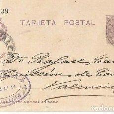 Sellos: TARJETA POSTAL ALFONSO XIII. MEDALLÓN 15CS BARCELONA OCT1921. Lote 287318263
