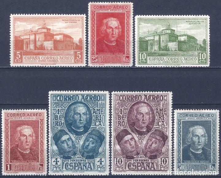 EDIFIL 559-565 DESCUBRIMIENTO DE AMÉRICA 1930 (SERIE COMPLETA). VALOR CATÁLOGO: 45 €. MLH. (Sellos - España - Alfonso XIII de 1.886 a 1.931 - Nuevos)