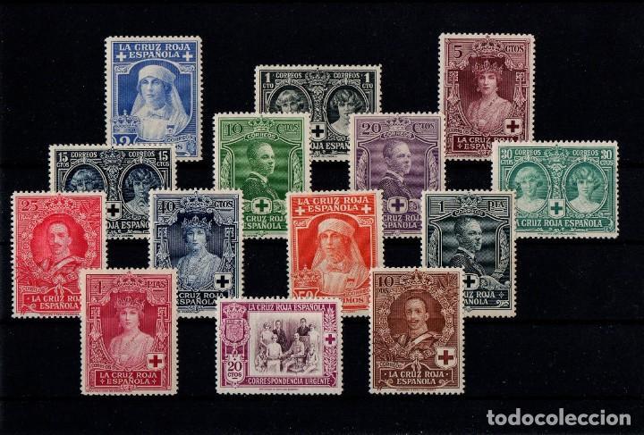 EDIFIL 325/38, NUEVOS CON FIJASELLOS Y SIN FIJASELLOS +63 (Sellos - España - Alfonso XIII de 1.886 a 1.931 - Nuevos)