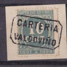 Sellos: FC-174- IMPUESTO GUERRA MATASELLOS CARTERÍA VALDOVIÑO. Lote 287979398