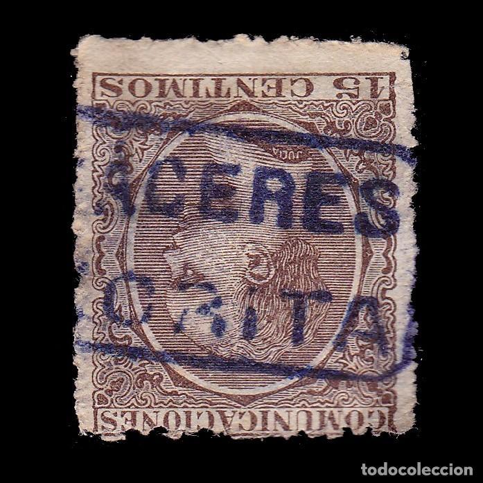 CARTERÍA.ALFONSO XIII.15C.CACERES.ZORITA (Sellos - España - Alfonso XIII de 1.886 a 1.931 - Usados)
