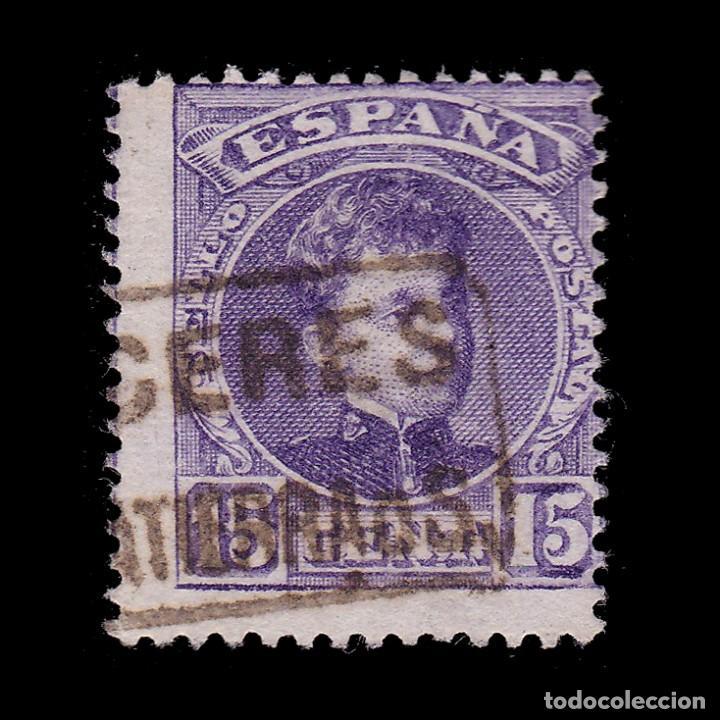 CARTERÍA.ALFONSO XIII.15C.CACERES.SALVATIERRA DE S (Sellos - España - Alfonso XIII de 1.886 a 1.931 - Usados)