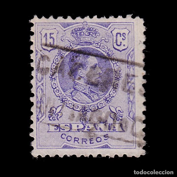 CARTERÍA.ALFONSO XIII.15C.CACERES.SANTIAGO DE C (Sellos - España - Alfonso XIII de 1.886 a 1.931 - Usados)