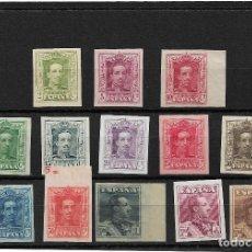 Sellos: ESPAÑA 1922/30, SERIE COMPLETA 13 VALORES EDIFIL 310/23 SIN DENTAR. MH.. Lote 288514888