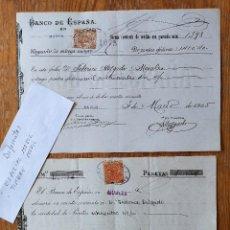 Sellos: B4-SELLO FISCAL 1903-1905 ESPECIAL MOVIL Y TIMBRE MOVIL DIFERENTES FISCALES EN DOCUMENTO MURCIA. Lote 288642453