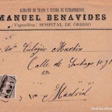 Sellos: CARTA DE HOSPITAL DE HORBIGO ( LEON) A MADRID CON SELLO 219 Y MATASELLO CARTERIA TIPO II. Lote 288683968
