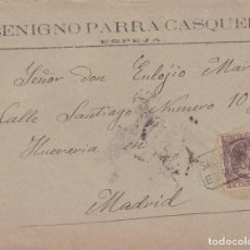 Sellos: CARTA DE ESPEJA (SALAMANCA) A MADRID CON SELLO 219 Y MATASELLO CARTERIA TIPO II. Lote 288684253