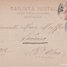 Sellos: TARJETA POSTAL CON SELLO 243 CON MATASELLO ESTACION MZA DE BARCELONA. Lote 288685358