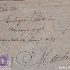 Sellos: CARTA CON SELLO 246 CON MATASELLO CARTERIA PARTICULAR TIPO I DE NEDA EN NEGRO. Lote 288687133