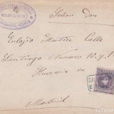 Sellos: CARTA CON SELLO 245 CON MATASELLO CARTERIA TIPO II DE ESPEJA ( SALAMANCA ) EN NEGRO. Lote 288690368
