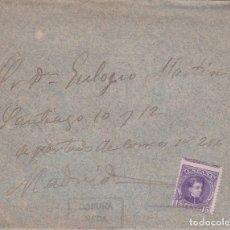 Sellos: CARTA CON SELLO 245 CON MATASELLO CARTERIA PARTICULAR TIPO I DE NEDA ( CORUÑA ) EN NEGRO. Lote 288691188