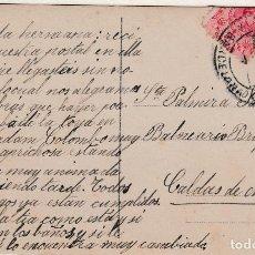 Sellos: TARJETA DE BARCELONA A CALDAS DE MONTBUY CON SELLO 269 MATASELLO FECHADOR. Lote 288694258
