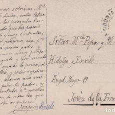 Sellos: TARJETA POSTAL DE MEDINA SIDONIA A JEREZ CON SELLO 493 Y MATASELLO FECHADOR. Lote 288698998