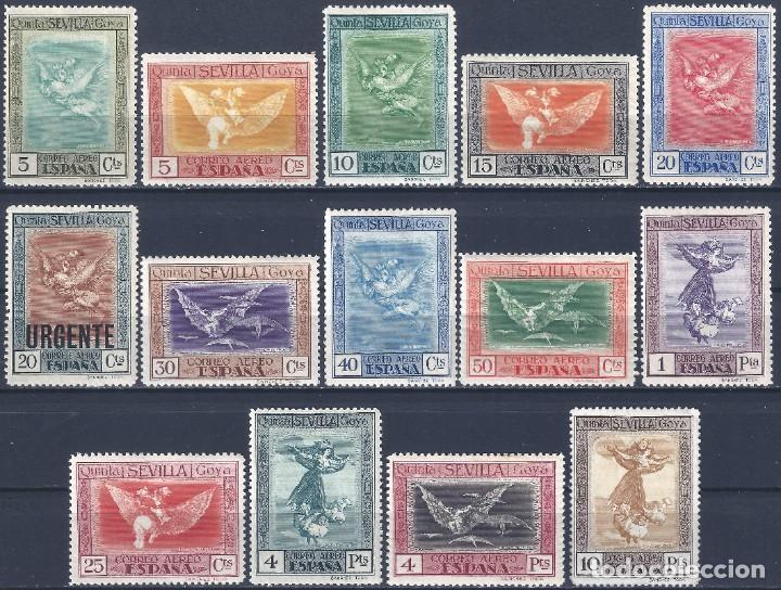 EDIFIL 517-530 QUINTA DE GOYA EN LA EXPOSICIÓN DE SEVILLA 1930 (SERIE COMPLETA). MLH. (Sellos - España - Alfonso XIII de 1.886 a 1.931 - Nuevos)