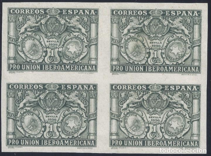 EDIFIL 566S PRO UNIÓN IBEROAMERICANA 1930 (BLOQUE DE 4). SIN DENTAR. V. CAT. ESPEC.: 18 €. MNH ** (Sellos - España - Alfonso XIII de 1.886 a 1.931 - Nuevos)