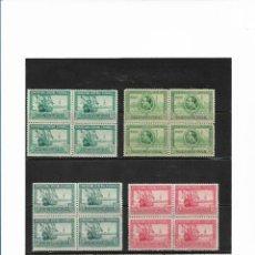 Sellos: ESPAÑA 1929, EDIFIL 434/447 PRO-EXPOSICIONES EN BLOQUE DE CUATRO. MNH.. Lote 289523313