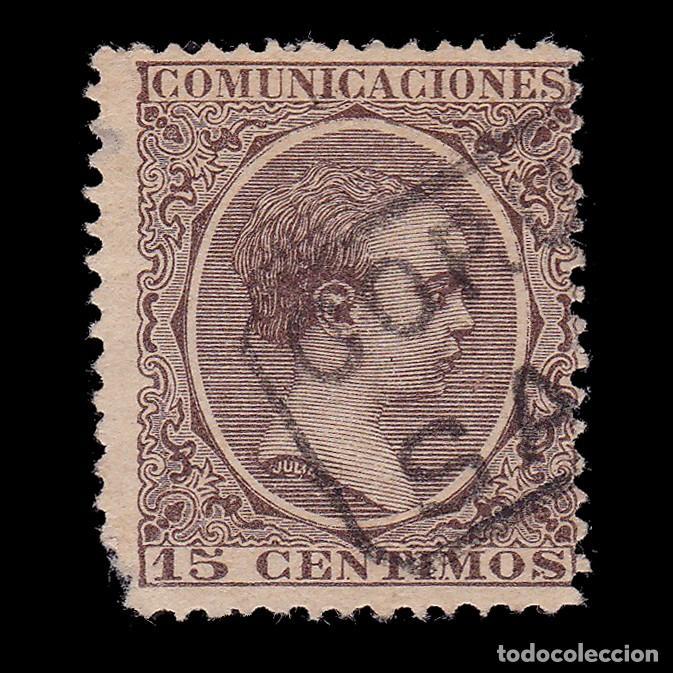 CARTERÍA.ALFONSO XIII.15C.CORUÑA.SADA (Sellos - España - Alfonso XIII de 1.886 a 1.931 - Usados)