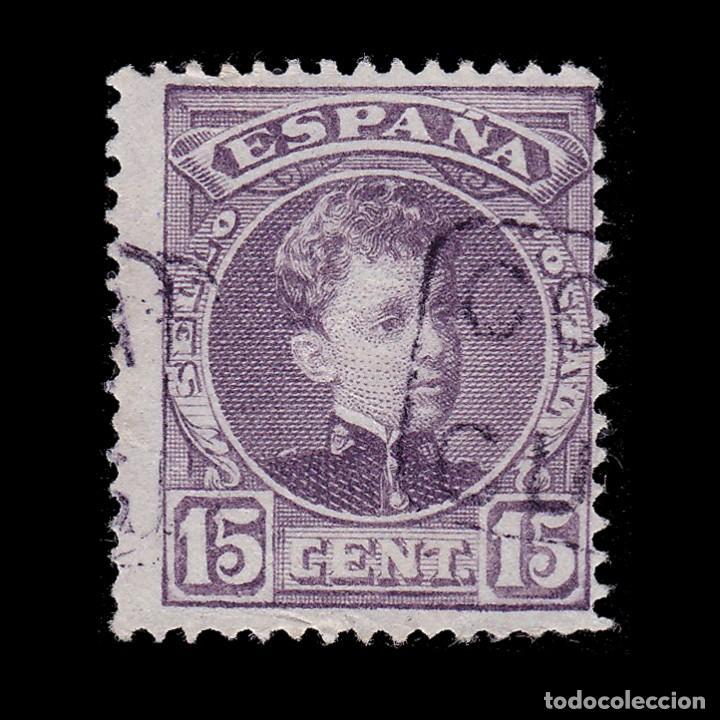 CARTERÍA.ALFONSO XIII.15C.CORUÑA.CURTIS (Sellos - España - Alfonso XIII de 1.886 a 1.931 - Usados)