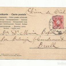 Sellos: POSTAL CIRCULADA 1906 DE FIGUERES GIRONA A EL BRULL GERONA. Lote 289593083