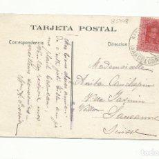 Sellos: POSTAL CIRCULADA ARCO DE TRIUNFO BARCELONA A LAUSSANE SUIZA. Lote 289593378