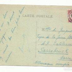 Sellos: POSTAL CIRCULADA 1924 DE NON PEN INDOCHINA CAMBODGE A SARRE FRANCIA. Lote 289600683