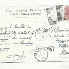 Sellos: POSTAL CIRCULADA 19DE VENECIA ITALIA A MALTA. Lote 289600938