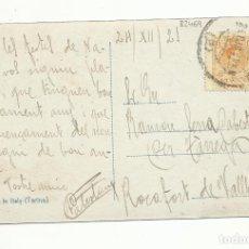 Sellos: POSTAL CIRCULADA 1921 DE BARCELONA A ROCAFORT DE VALLBONA. Lote 289601118