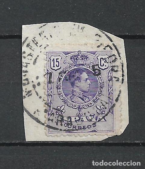 ESPAÑA 1909 SELLO USADO - 15/60 (Sellos - España - Alfonso XIII de 1.886 a 1.931 - Usados)