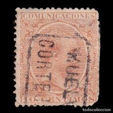 Sellos: CARTERÍA.ALFONSO XIII.TIPO PELÓN.10C.HUELVA.CORTEJANA. Lote 289626663