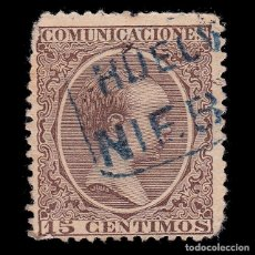 Sellos: CARTERÍA.ALFONSO XIII.15C.HUELVA.NIEBLA. Lote 289627198