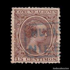 Sellos: CARTERÍA.ALFONSO XIII.TIPO PELÓN.15C.HUELVA.NIEBLA. Lote 289628098