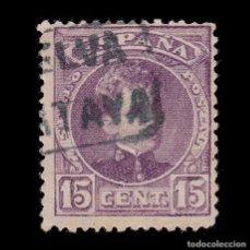 Sellos: CARTERÍA.ALFONSO XIII.TIPO CADETE.15C.HUELVA.CARTAYA. Lote 289628323