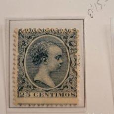 Sellos: SELLO DE ESPAÑA 1889-99 ALFONSO XIII 25 CENT. DE PESETA EDIFIL 221 USADO. Lote 289641348