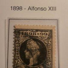Sellos: SELLO DE ESPAÑA 1898 ALFONSO XIII RECARGO 5 CTS EDIFIL 240 USADO. Lote 289642013