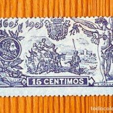 """Sellos: 1905, III CENTENARIO DE LA PUBLICACIÓN DE """" EL QUIJOTE """", EDIFIL 259, NUEVO CON FIJASELLOS. Lote 291189918"""