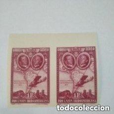 Sellos: 1930 ESPAÑA - EDIFIL 589S - BLOQUE 2. - PRO UNION IBEROAMERICANA - MNH. Lote 293538688